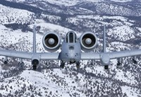 An A-10C Thunderbolt over Idaho with Snow Fine-Art Print