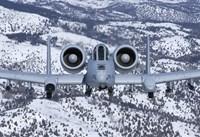 An A-10C Thunderbolt over Idaho with Snow Fine-Art Print