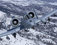 A-10C Thunderbolt  Flies over Snowy Idaho Fine-Art Print