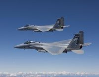 Two F-15 Eagles over Oregon Fine-Art Print