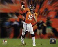Peyton Manning Motion Blast Fine-Art Print