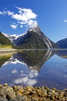 Mitre Peak, Milford Sound, Fjordland National Park, South Island, New Zealand Fine-Art Print