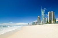 Australia, Gold Coast, Surfer's Paradise Beach Fine-Art Print