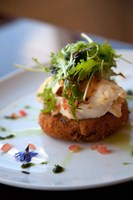 Lobster on Salmon cake, Cuisine, Marlborough, South Island, New Zealand Fine-Art Print