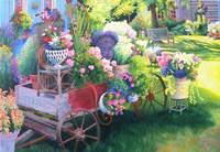 Flower Cart in Door County Fine-Art Print