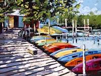 Kayak Dock Fine-Art Print