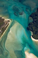 Tidal Patterns, Awaroa Inlet, South Island, New Zealand Fine-Art Print