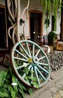 Wagon Wheel, La Posada De Don Rodrigo Hotel, Antigua, Guatemala Fine-Art Print