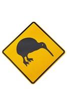 Kiwi Warning Sign, New Zealand Fine-Art Print