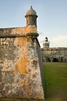 Puerto Rico, Walls and Turrets of El Morro Fort Fine-Art Print
