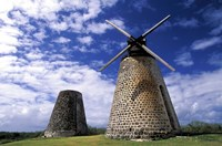 Antigua, Betty's Hope, Suger plant, windmill Fine-Art Print