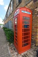 Red Telephone box, Nelson's Dockyard, Antigua Fine-Art Print
