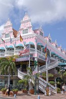 Dutch Architecture of Oranjestad Shops, Aruba, Caribbean Fine-Art Print