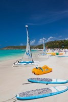 Antigua, Dickenson Bay, beach, sailboats Fine-Art Print