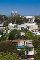 Antigua, St Johns, elevated city view Fine-Art Print