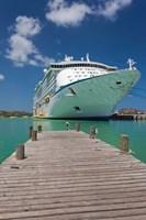 Antigua, St Johns, Heritage Quay, Cruise ship Fine-Art Print