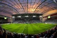 Football game, Forsyth Barr Stadium, Dunedin, South Island, New Zealand - fisheye Fine-Art Print