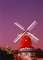 The Mill Resort against pink sky, Oranjestad, Aruba Fine-Art Print