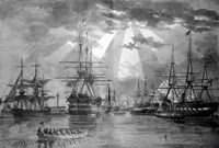 US Naval Ships during the Civil War Fine-Art Print