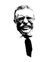 Vector Portrait of Theodore Roosevelt smiling Fine-Art Print