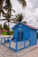 Bahamas, Eleuthera, Princess Cays, beach bungalow Fine-Art Print