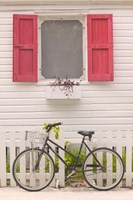Beach House and Bicycle, Loyalist Cays, Bahamas, Caribbean Fine-Art Print