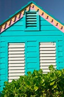Colorful Cottage at Compass Point Resort, Gambier, Bahamas, Caribbean Fine-Art Print