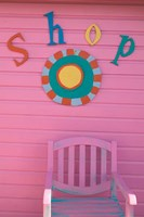 Colorful Sign at Compass Point Resort, Gambier, Bahamas, Caribbean Fine-Art Print