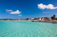 Bahamas, Eleuthera Island, Tarpum Bay, town beach Fine-Art Print