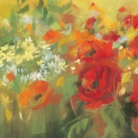 Oriental Poppy Field II Fine-Art Print