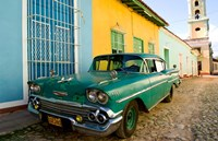 1958 Classic Chevy Car, Trinidad Cuba Fine-Art Print