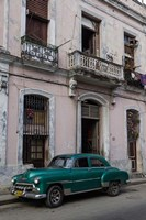 1950's era green car, Havana Cuba Fine-Art Print