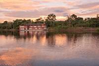 Delfin river boat, Amazon basin, Peru Fine-Art Print