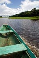 Dugout canoe, Arasa River, Amazon, Brazil Fine-Art Print