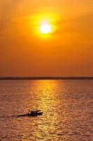 Brazil, Amazon River, Fishermen Fine-Art Print