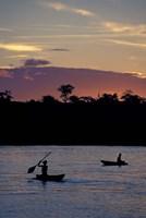 Sunset over Amazon River Basin, Peru Fine-Art Print
