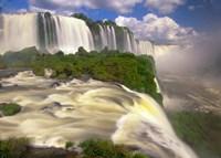 Brazil, Igwacu Waterfalls into the Igwacu River Fine-Art Print