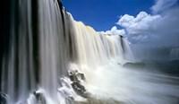 Towering Igwacu Falls Drops into Igwacu River, Brazil Fine-Art Print