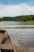 Brazil, Amazon, Valeria River, Boca da Valeria Local wooden canoe Fine-Art Print