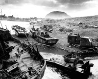 Wreckage During The Battle of Iwo Jima Fine-Art Print