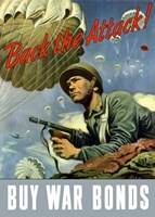 Back the Attack!  Buy War Bonds Fine-Art Print