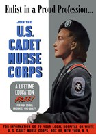 US Cadet Nurse Corps - A Lifetime Education Free Fine-Art Print