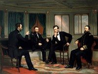 Civil War Painting of The Peacemakers Fine-Art Print