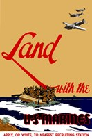 Land with the U.S.  Marines Fine-Art Print