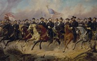 Ulysses S Grant and His Generals on Horeback Fine-Art Print