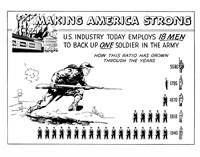 Making America Strong - 18 Men to Back One Soldier Fine-Art Print