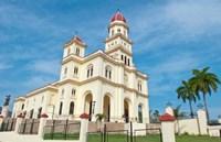 Santiago, Cuba, Basilica El Cabre, Church steeple Fine-Art Print