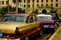 Classic American cars, streets of Havana, Cuba Fine-Art Print