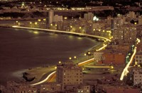 Malecon at Night, Havana, Cuba Fine-Art Print