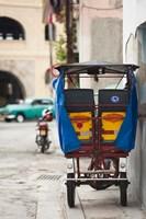 Cuba, Havana, Havana Vieja, pedal taxi Fine-Art Print